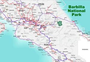 Barbilla National Park Location