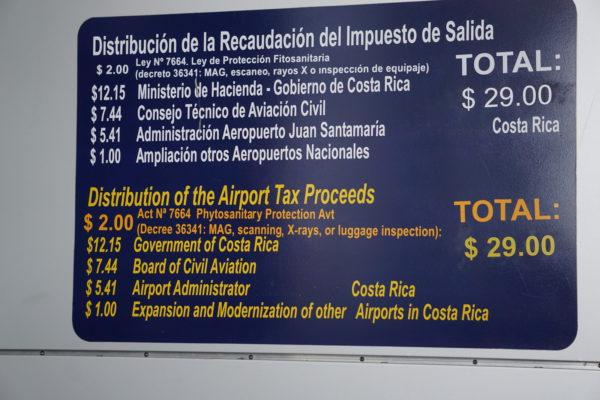 Departure Tax Breakdown