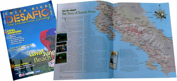 Desafio Magazine - The story of Costa Rica Guide $ Toucan Maps Inc.