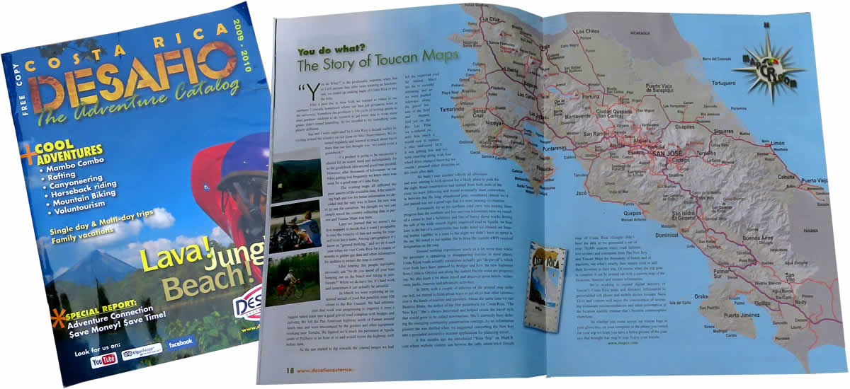 desafio magazine the story of costa rica guide toucan maps inc