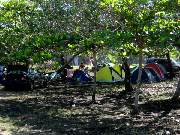 Campground at Playa Manzanillo Costa Rica