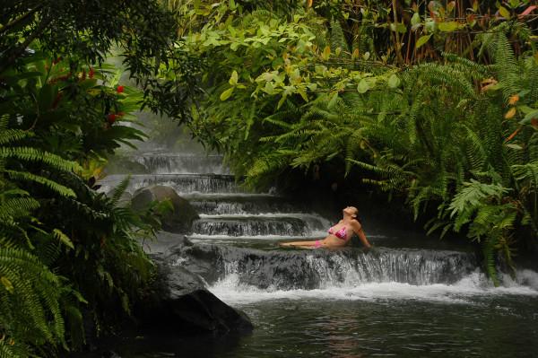Tabacon Hotsprings waterfall