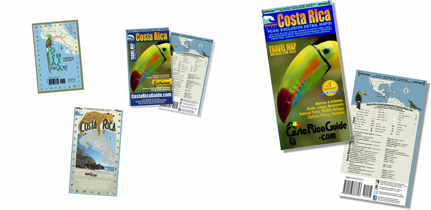 waterproof travel map of costa rica The Story Of Costa Rica Guide waterproof travel map of costa rica