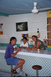 The ice cream shop where we stayed in Guatuso
