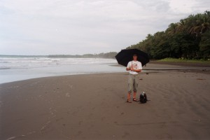 Umbrella on the beach at Cahuita
