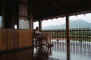 Rocker on the terrace at Hacienda Innocentes