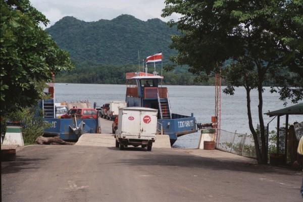 old Tempisque river ferry boat costa rica