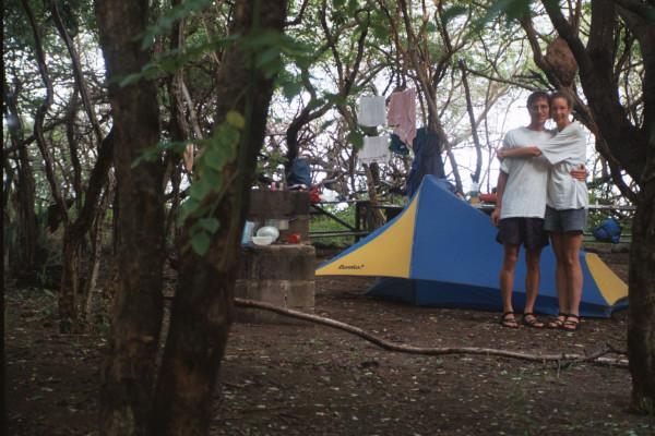 Camping at Playa Naranjo