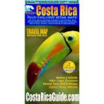 Waterproof Travel Map of Costa Rica