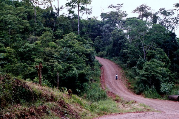Costa Rica's version of a flat road