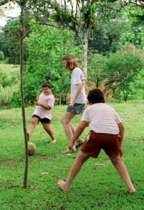 Soccer in the pigpen