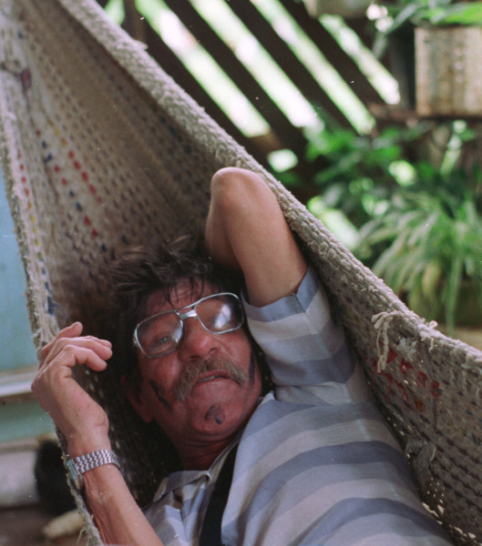 Quicho napping in a hammock