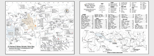 Arenal and La Fortuna Map