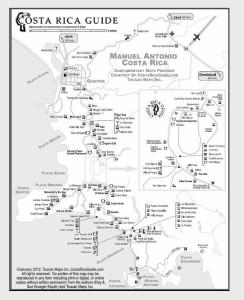 Manuel Antonio and Quepos Map