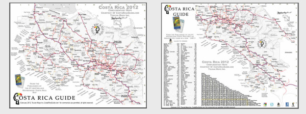 Costa Rica Map - printable PDF download