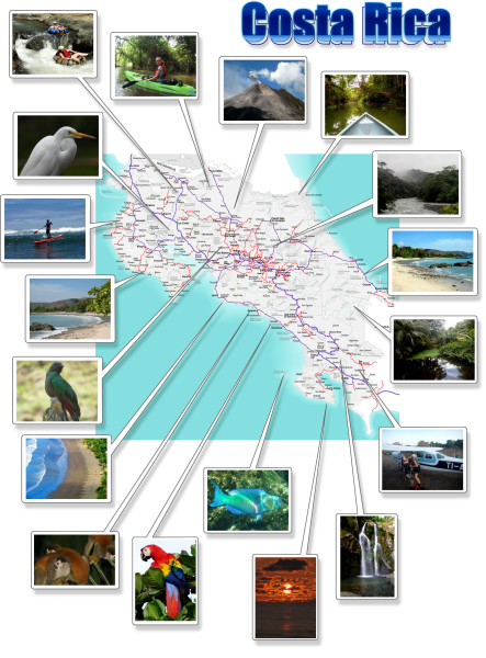 Costa Rica photo map