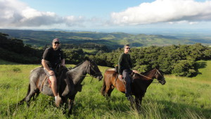 We rode horses through the pastures on the approach to Tenorio