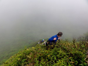 Nearly vertical climb out of the crater of Tenorio