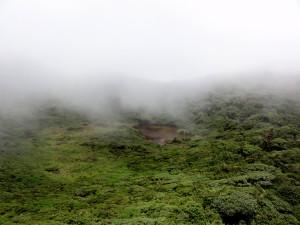 Crater lake Tenorio Volcano
