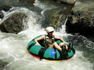 Cammie white water inner tubing