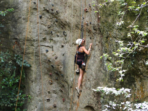 Rock climbing wall Costa Rica style