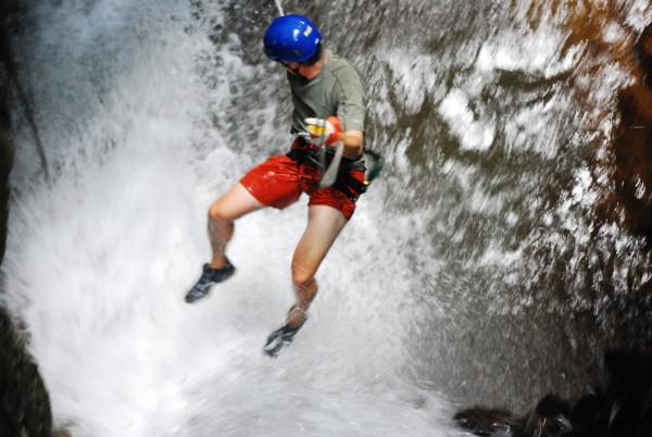 La Roca Waterfall Rappelling