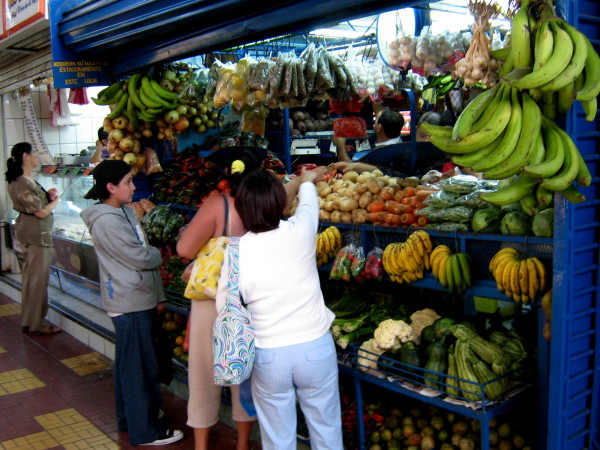 Fruit stall in the mercado central in Heredia