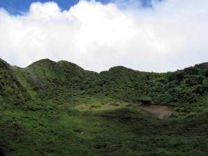 Tenorio crater rim and lake