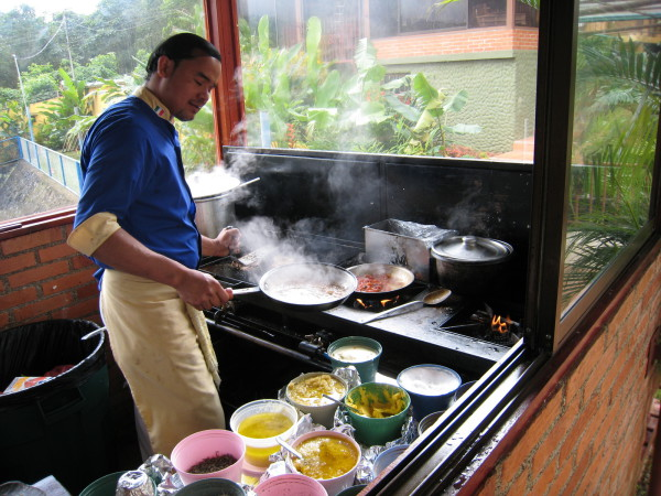 Cooking in a Costa Rican Italian Restaurant