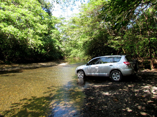 Fording German Creek