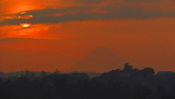 Sunrise over Arenal Volcano...or is that Mount Kilimanjaro?