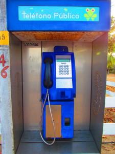 Public pay phone in Costa Rica
