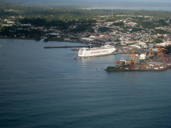 Cruise ship docked at Puerto Limon