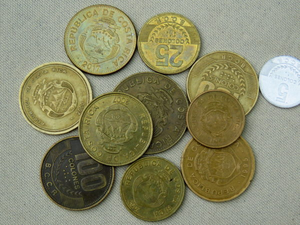costa rica colones currency colon