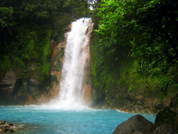 Celeste Waterfall is a highlight of Tenorio National Park