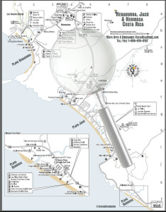 Click for larger version of the  Jaco, Herradura, Hermosa  Map