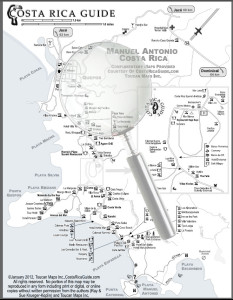 Click for larger version of the Manuel Antonio Map