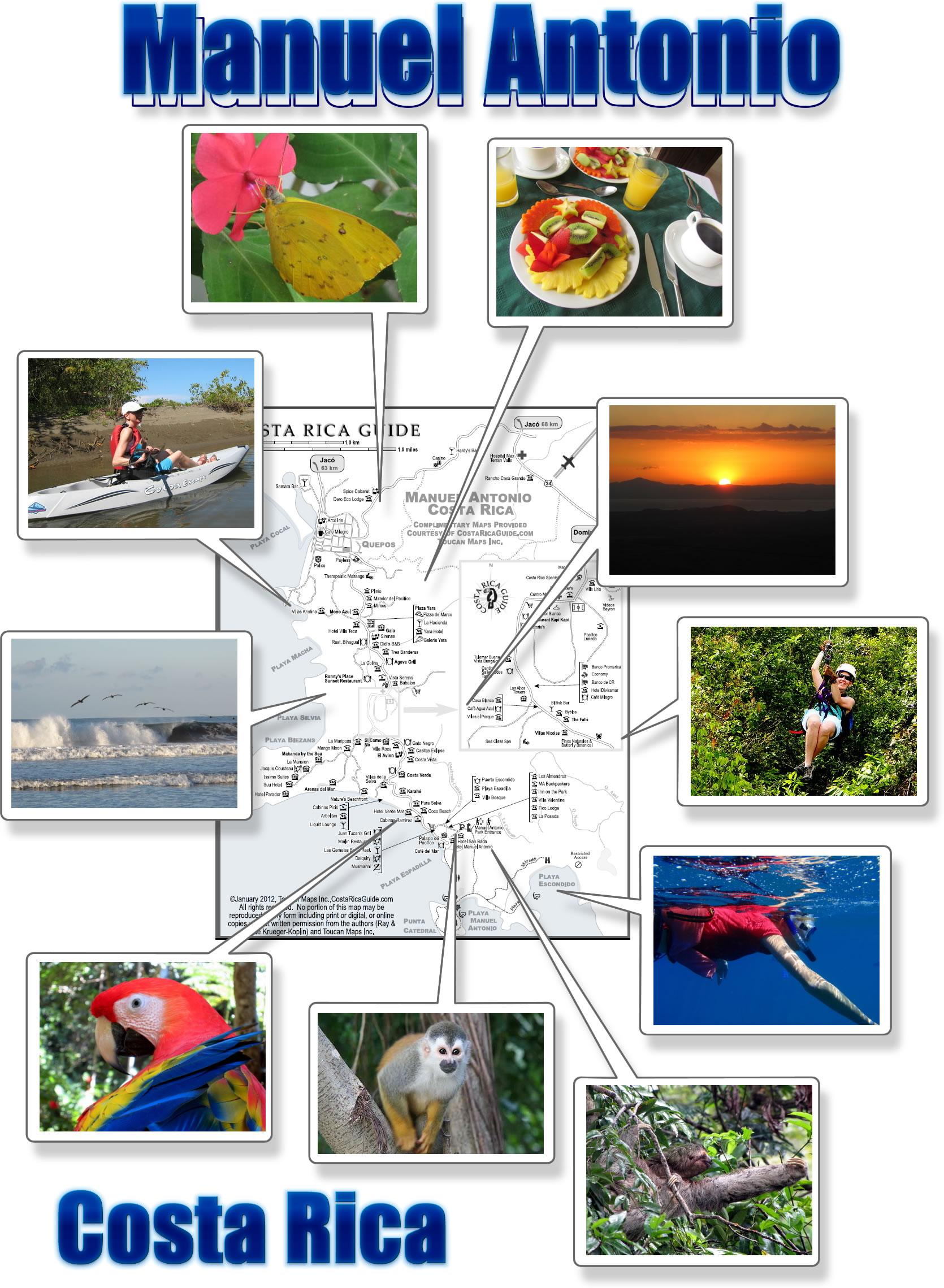 Manuel antonio map free printable download manuel antonio photo map biocorpaavc Gallery