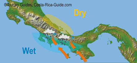 Orographic Forcing creates extremely heavy rainfall on the Osa
