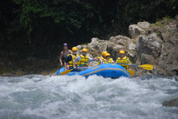 White water rafting on the Pacuare river NOT near Monteverde