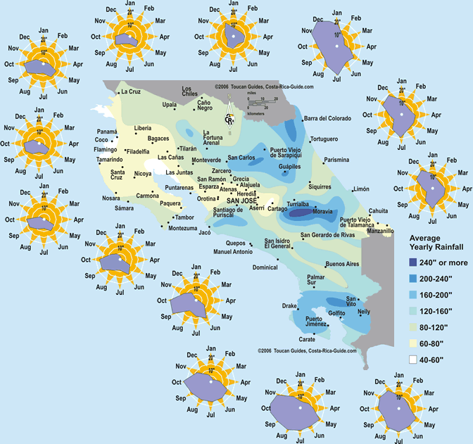 Topographic weather and other maps of Costa Rica – Travel Map Of Costa Rica