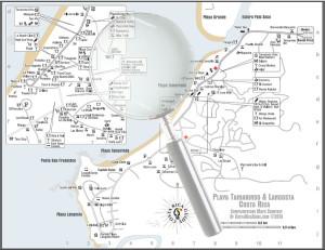 Tamarindo Langosta Map Larger Image