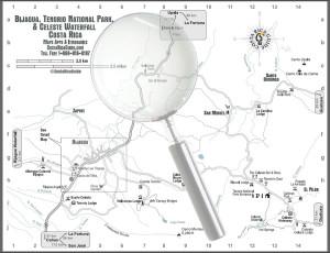 Larger image of the Tenorio, Celeste, Miravalles and Bijagua map