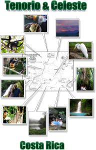 Tenorio, Celeste Waterfall, Miravalles, Bijagua photo map