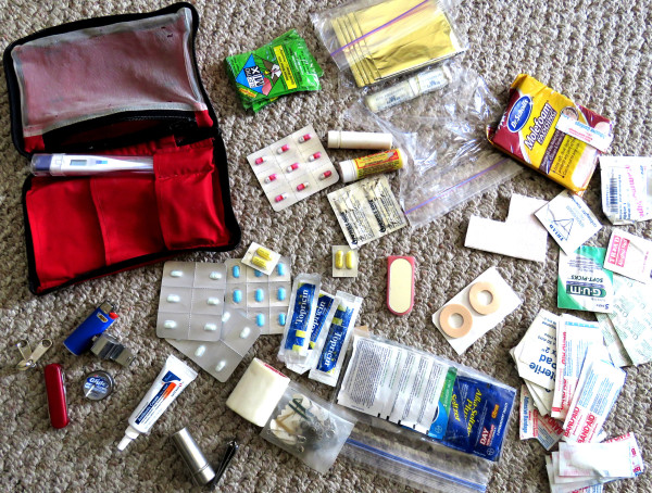 Restocking the first-aid-kit