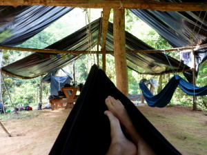 Nap time in camp