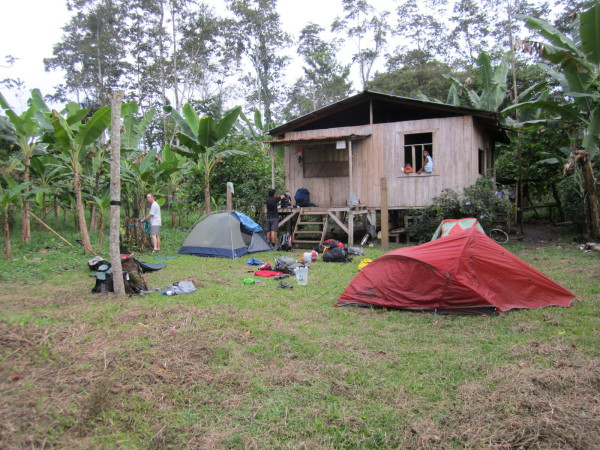 Our first camp was in the front yard of one of the porters homes in Coroma