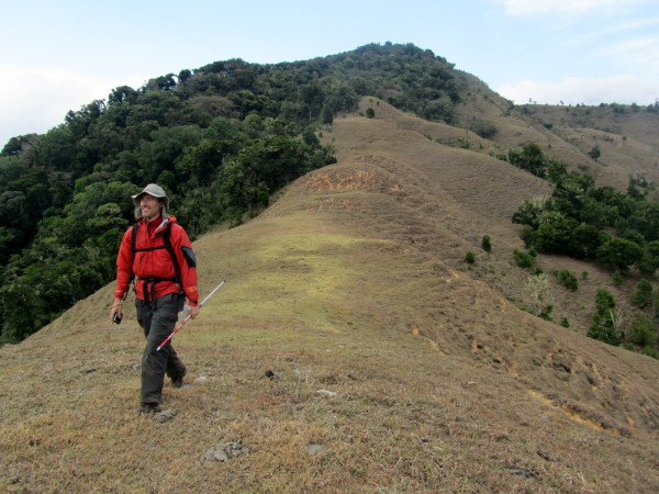 Once you exit La Amistad on the Pacific side the clear cutting and cow pies (see by my foot) start.