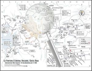 Arenal Volcano & La Fortuna Map larger image
