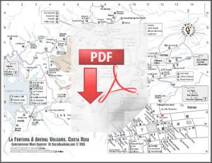 Arenal Volcano & La Fortuna Map download pdf